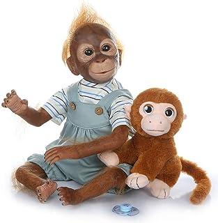 21 inches 52CM Reborn Monkey Animals Dolls Lovely Baby Orangutan Doll Toy Realistic Lifelike Reborn Monkey Baby Doll Soft ...