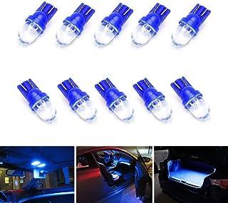 iJDMTOY (10) ウルトラブルー シングルエミッター 1-LED 168 175 194 2825 W5W T10 LED 交換用電球 カーインテリアライト マップライト ドームライト フットエリアライト トランクエリアライトなどに対応