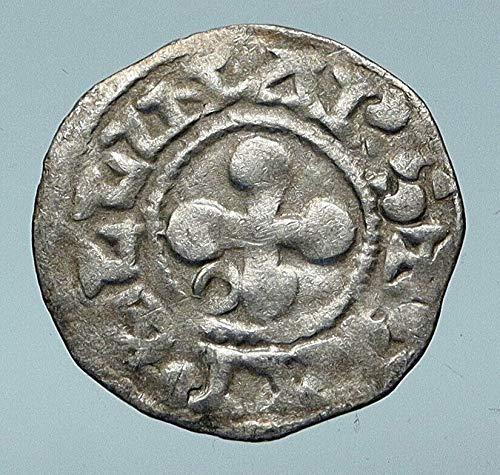 1157 FR 1157-1276 FRANCE Bishops of Valence CROSS Old Ant Denier Good Uncertified