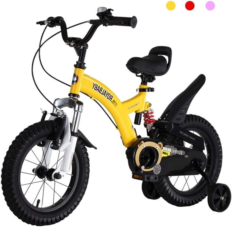 comprar nuevo barato LJFYMX Bicicleta Bicicletas para para para Niños vehículo Todoterreno en Bicicleta de Montaña Color 12 14 16 18 Pulgadas Amarillo Pedal de Bicicleta ( Talla   C )  estilo clásico