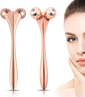 3D Mini Facial Massager Rollers Face Massager - Skin Care Face Body Massager Firming Tools for V-shape Face Lift Kneading ...