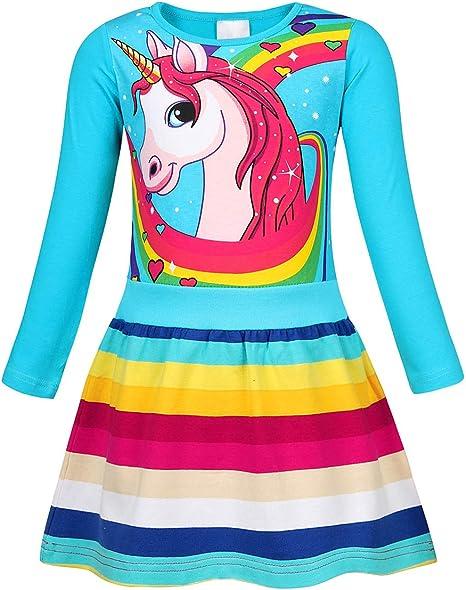 Amzbarley Girls Nightgowns Sleepwear Unicorn Sleep Shirts Short Sleeve Kids Pajamas Night Sleep Dress Amazon Ca Clothing Shoes Accessories
