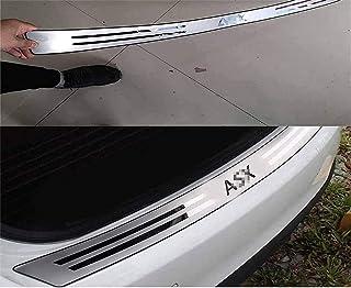 Acier Inoxydable Protecteur De Pare-Chocs ArrièRe pour Mitsubishi ASX 2010-2017,Voiture Protection De Seuil De Coffre Arri...
