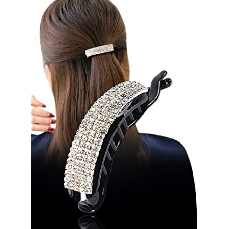 Fashion Hollow Out Oval Wide Large Hair Clips Unique Ponytail Holder Hairpin