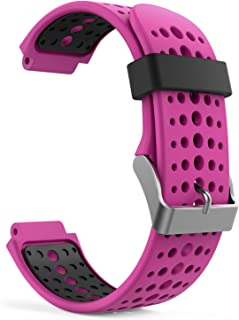 Garmin ForeAthlete 235J バンド - ATiC Garmin ガーミン ForeAthlete/Forerunner 235J/220J/230J/620J/630J/735XTJ /235 Lite ベルト バンド 交換ベルト ソフト 高級 シリコーン製腕時計ストラップ/バンド 交換ベルト
