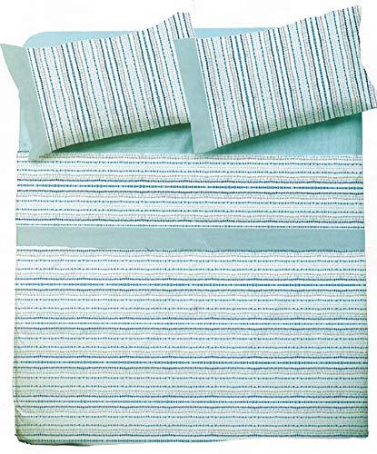 NOVIA - Sábanas matrimoniales completo de algodón, juego de sábanas de matrimonio Venere | Juego de sábanas de dos plazas | Juego de cama de matrimonio (Puzzle – V775)