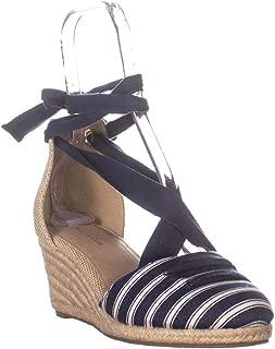 CC35 Maritza Wedge Espadrille Sandals, Navy Stripe
