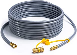 SHINESTAR 24 Feet Natural Gas Hose with 3/8in Male Flare Quick Connect/Disconnect for Fire Pit, Patio Heater, Grill, Pizza Oven- 50,000 BTU Fits Low Pressure Appliance with 3/8in Female Flare Fitting
