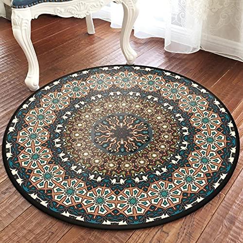 Alfombra de Estilo Popular Turco, Sala de Estar, Mesa de Centro, Alfombra con Mandala, sofá, mesita de Noche, alfombras Creativas para Piso, alfombras de decoración para Dormitorio-D 140