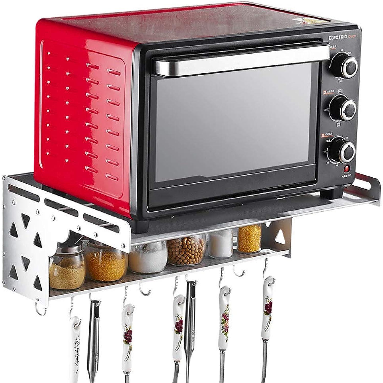 El ultimo 2018 Ludage Estante de aluminio para para para horno de microondas de 2 capas montado en la parojo estante estante de almacenamiento de cocina en casa  disfrutando de sus compras