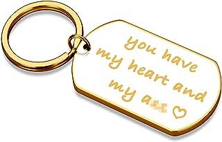 Anniversary Keychain Thanksgiving Christmas Gifts for Him Boyfriend Husband from Her Girlfriend Wife Birthday Valentine Da...