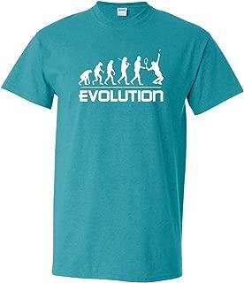Thread Science Tennis Evolution Sports Ball Racquet Team Club Funny Humor Adult Men's T-Shirt