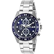Invicta Men's 15205 Pro Diver Chronograph Blue Dial Stainless Steel Watch