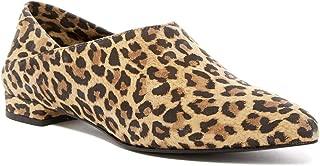 Ivy Kirzhner Pan Pointed Toe Flat Cheetah Leopard Pony Hair Pointed Toe Pump