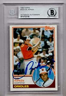 1983 Topps Cal Ripken Jr. Signed Card Beckett Authentic Autograph - Beckett Authentication - Baseball Slabbed Autographed Cards
