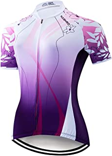 NASHRIO 2019 Women's Cycling Jersey Short Sleeve Road Bike Biking Shirt Tops Bicycle Clothes - Breathable and Quick-Dry with 3 Pockets