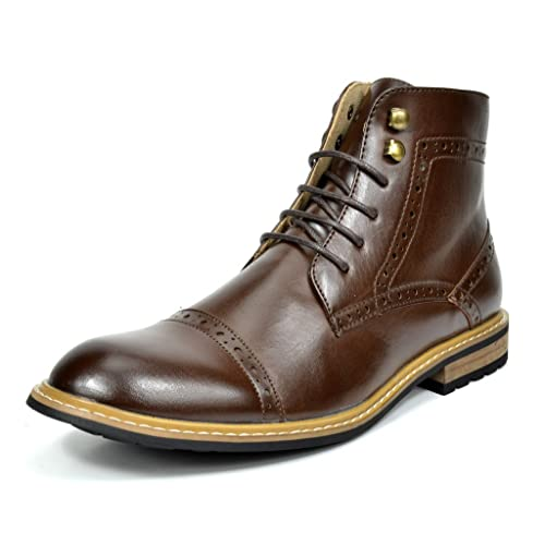 Bruno Marc Mens Bergen Leather Lined Oxfords/Chelsea Dress Ankle Boots