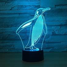 Penguin Night Light con 7 colores Parpadeo e interruptor táctil Usb PoweredDormitorioLámpara deescritorio para niños Regalos Decoración del hogar