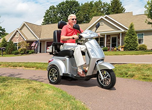 Pride Mobility Raptor 3 wheel mobility recreational scooter, range of 31 miles - 40 lb. capacity