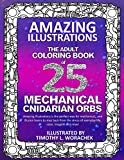 Amazing Illustrations Mechanical Cnidarian Orbs: Adult Coloring Book