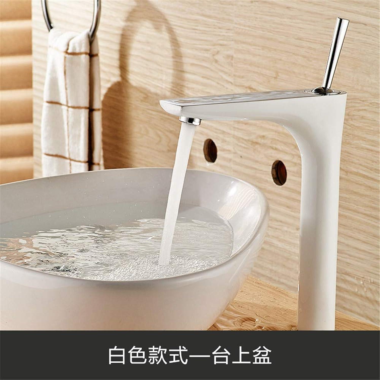 Oudan Single-Unit Faucet Hot and Cold Mixing Water Basin Faucet Washbasin Bathroom Faucets D (color   D, Size   -)