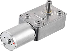 Yootop DC12V 15RPM 6mm Worm Gear Motor Shaft High Torque Turbine Reducer Turbo Reduction Motor