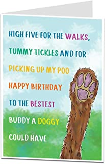 Funny Birthday Card from The Dog Pet Theme for The Owner Lover Men & Women