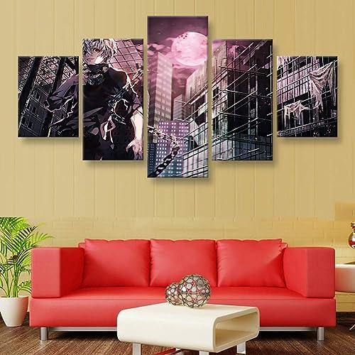 la mejor selección de YHEGV Impresiones En Lienzo Lienzo HD Imprimir Poster Wall Wall Wall Art 5 Piezas Cuadros Cuadros Animados para la Sala de Estar Decoración del Hogar Marco  precios razonables