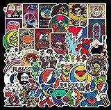 SUNYU 50 Uds Banda de Rock Americana Graffiti monopatín Impermeable Maleta de Viaje teléfono móvil portátil Equipaje...