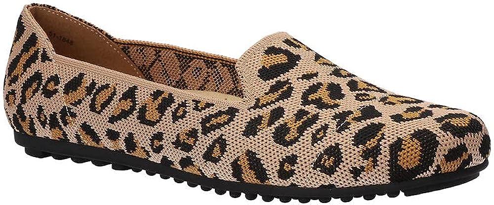 Bella Vita Women's Hathaway Loafer, Leopard Knit, 12
