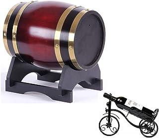 Conteneur à Vin En Bois Domestique 1.5L Tonneau de vin en chêne, Baril de chêne de cuisson interne, Convient à la vinifica...