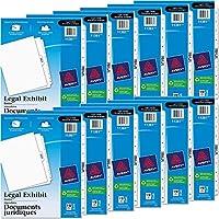 avery-style法的側面タブ仕切り、タイトル: 1–10、手紙、ホワイト、1セット、合計12ST , Sold as 1カートン