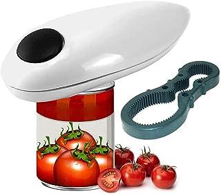 Abrelatas eléctrico profesional, con un solo botón, el mejor abrelatas eléctrico para personas con artritis, personas mayo...