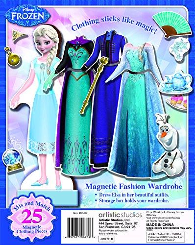 Bendon 06700 Disney Frozen Elsa 25-Piece Wooden Magnetic Doll Dress-Up Kit