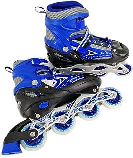 Ajustable Roller Skate Shoes, Blue, Size: 34-39