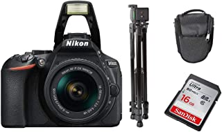 Nikon D5600 AF-P 18-55mm VR Lens with Tripod, Carry case, Sandisk 16GB Ultra SD Card Bundle Kit