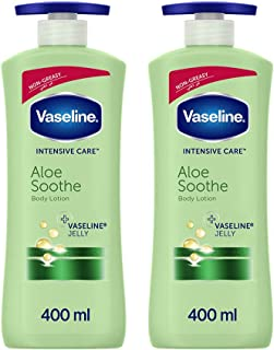 Vaseline Aloe Soothe Body Lotion, 2 x 400ml
