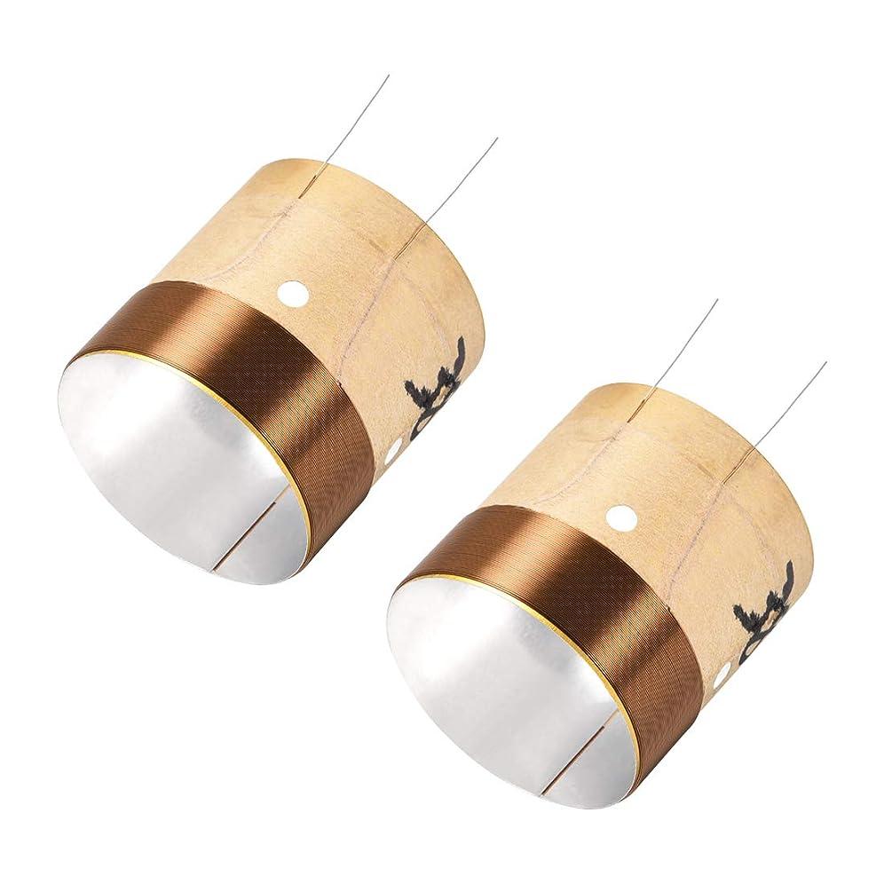 男やもめウェイトレス支払うuxcell ボイスコイル ダブル層 ワイヤ オーディオスピーカーパーツ 直径38.5mm 2個入
