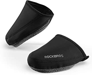 ROCK BROS Cycling Shoe Toe Covers Thermal Shoe Covers Windproof Half Shoecover for MTB BMX Bicycle, Black