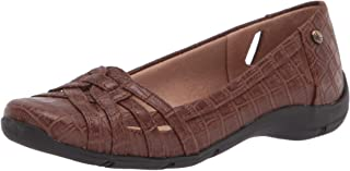 LifeStride womens Diverse Ballet Flat, Brown, 9 Narrow US