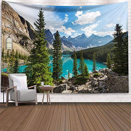 Tapiz psicodélico bosque colgante hogar lana sol y luna poliéster decoración psicodélica tapiz bohemio Mandala Mandala (M / 130x150cm franela)