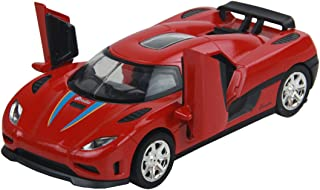 Yepmax Car Toys 1:32 Koenigsegg GT Model Cars Sound and Flash (Red)