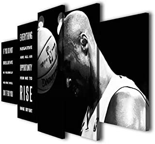 Canvas Pictures Paintings Poster Home Decoration HD 5 Panel Kobe Bryant Wall Artwork Printed Hotel Modular for Bedroom Framework