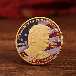ONERIOME US Flag Coins Art Collection Version Character Portrait Pattern Commemorative Coin Coins(Gold/Sliver)