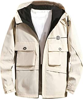 42535b6e345 Fensajomon Mens Fashion Casual Full-Zip Stand Collar Jacket Coat Outwear