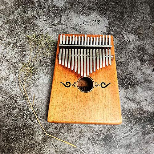 ddellk duim piano 17 toetsen Kalimba mahonie fineer pocket piano met stemhamer schaal sticker muziekinstrument, G#