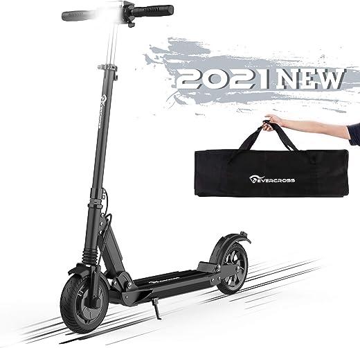 """Hoverboards Monopattino Elettrico, 8"""" Scooter Elettrico per Adulto velocità Massima 30km/h, Fanale e Display a LCD, Scooter Super Leggero Monopattino Elettrico Pieghevole"""