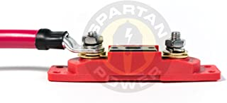 Spartan Power 100 Amp ANL Fuse & Holder Kit with 12 Inch 4 AWG Cable - Made in America