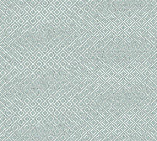 A.S. Création Vliestapete Björn Tapete grafisch geometrisch skandinavischer Stil 10,05 m x 0,53 m blau weiß Made in Germany 351804 35180-4