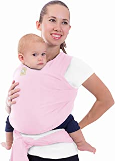 Baby Wrap Carrier All-in-1 Stretchy Baby Wraps - Baby Sling - Infant Carrier - Babys Wrap - Hands Free Babies Carrier Wraps - Baby Shower Gift - One Size Fits All (Sweet Pink)